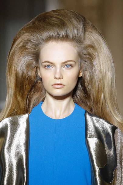 Guido Palau brought gloriously big hair to the catwalk