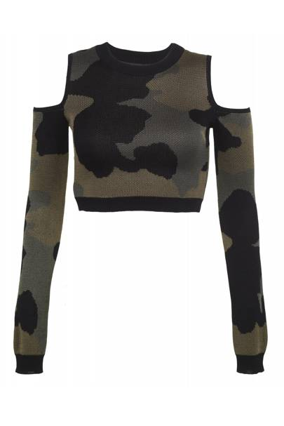 Camouflage cropped jumper, £35