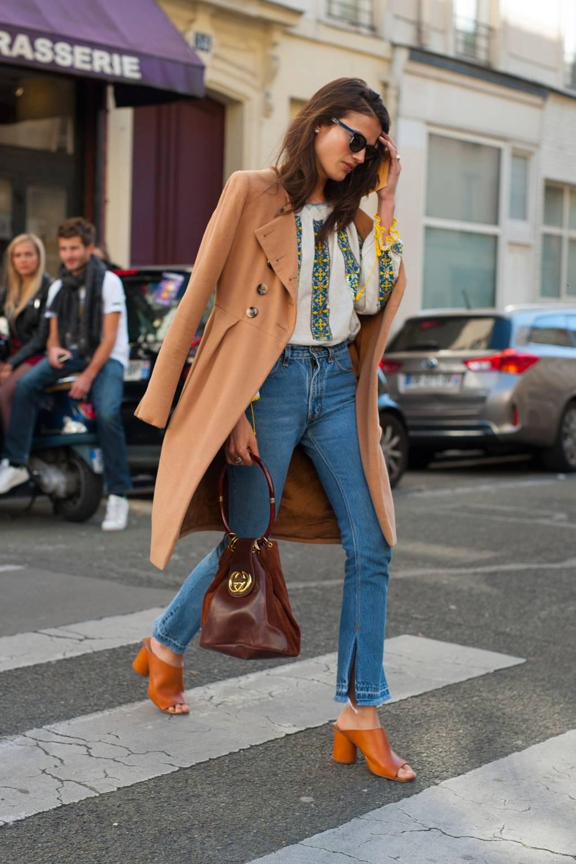 9be41ffec6a Skinny Jeans Are No More: Vogue Champions The Stiff Denim Trend | British  Vogue