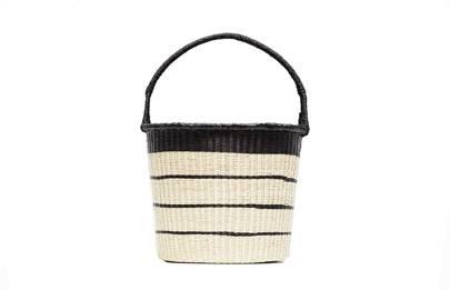Sensi Studio striped bucket bag