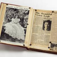 Volume of press cuttings about Vivien Leigh's role in Gone With The Wind, 1940