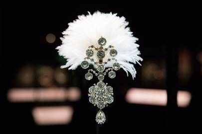 Diamond turban jewel made for the Maharaja of Nawanagar, 1907, remodelled in 1935 India   Credit: Bejewelled Treasures, The Al Thani Collection, Servette Overseas Limited 2014 Victoria and Albert Museum. Photograph Prudence Cuming Associates Ltd