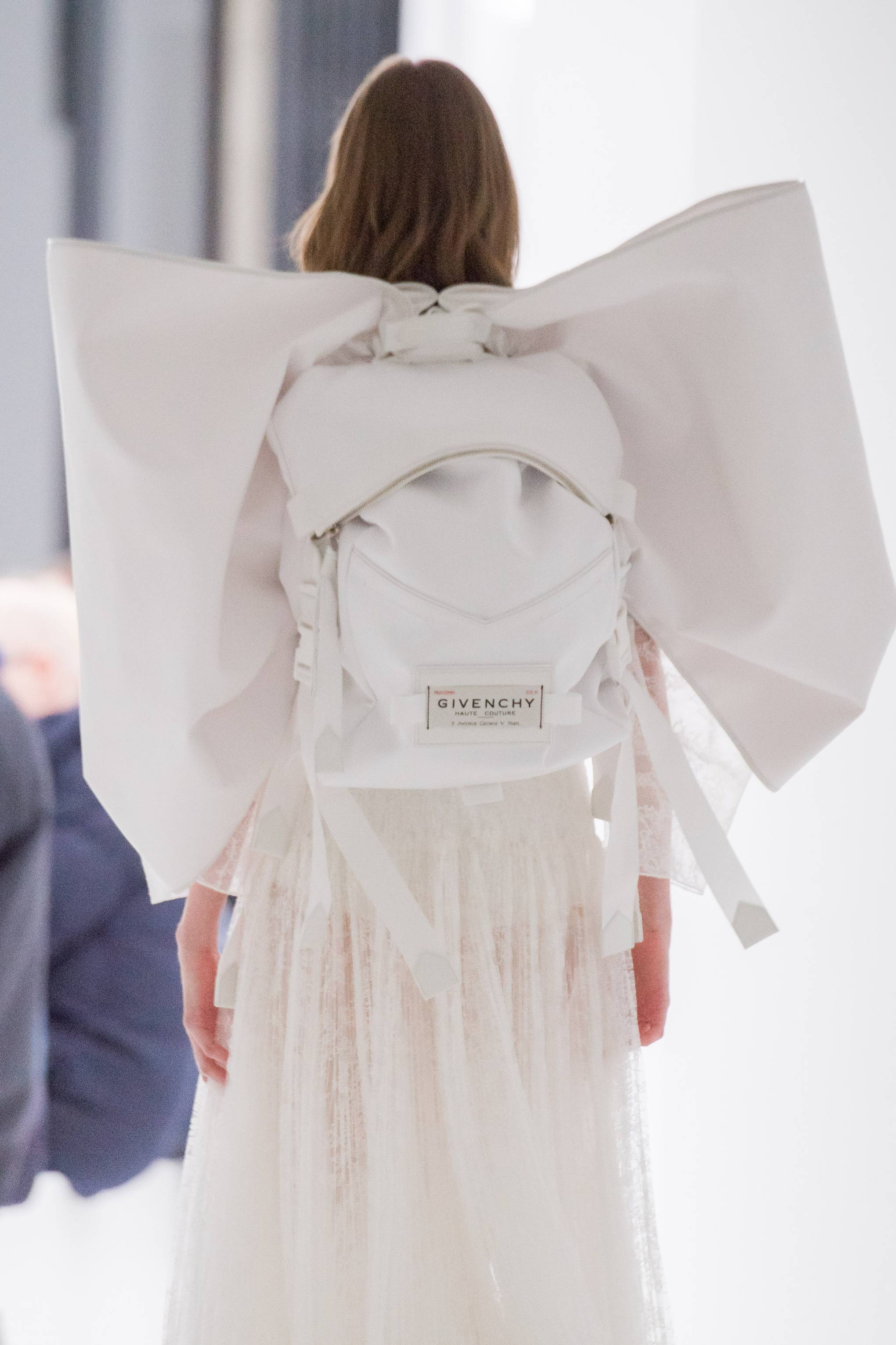 e0271d7a982 Clare Waight Keller's Givenchy Bow-Backpack Hybrids Are A Couture  Streetwear Dream | British Vogue