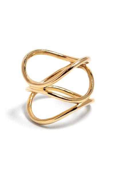 Lomo gold ring, £196