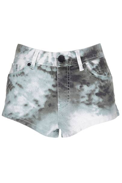 Tie-dye denim shorts, £35