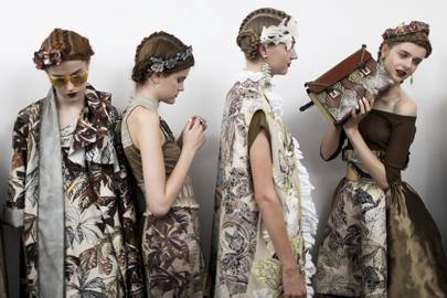 Backstage at Antonio Marras