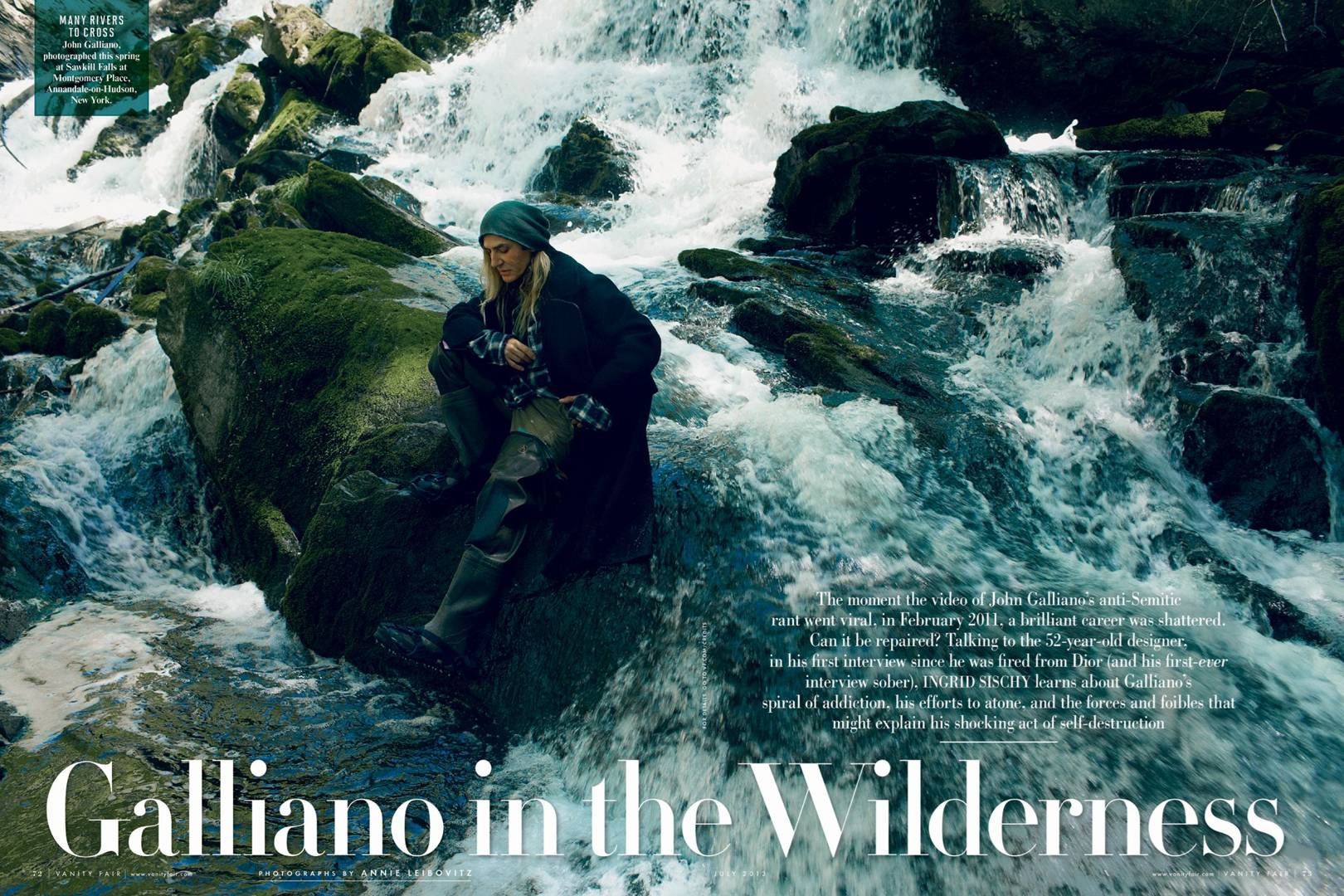 Fashion style Galliano john interview in vanity fair for girls