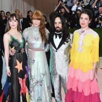 Dakota Johnson, Florence Welch, Alessandro Michele and Charlotte Casiraghi