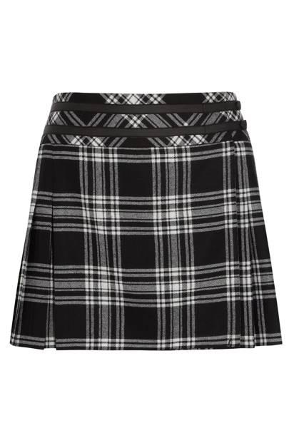 Tartan mini skirt, £200