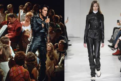 When he wore his legendary head-to-toe black leather outfit for the Elvis comeback ...  sc 1 st  Vogue & Elvis Presley: Style Icon 40 Years On | British Vogue