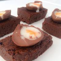 Crème Egg Chocolate Brownies