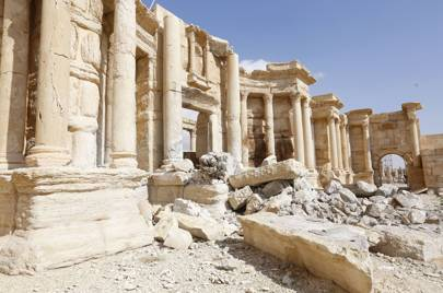 Recaptured archeological site of Palmyra, Damascus in March 2017.