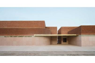 The façade of the Musée Yves Saint Laurent Marrakech, which opens in October 2017