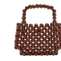 Mango: beaded wood handbag