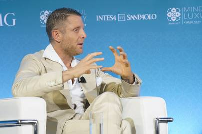 Lapo Elkann in conversation with Suzy Menkes at the Condé Nast International Luxury Conference in Oman