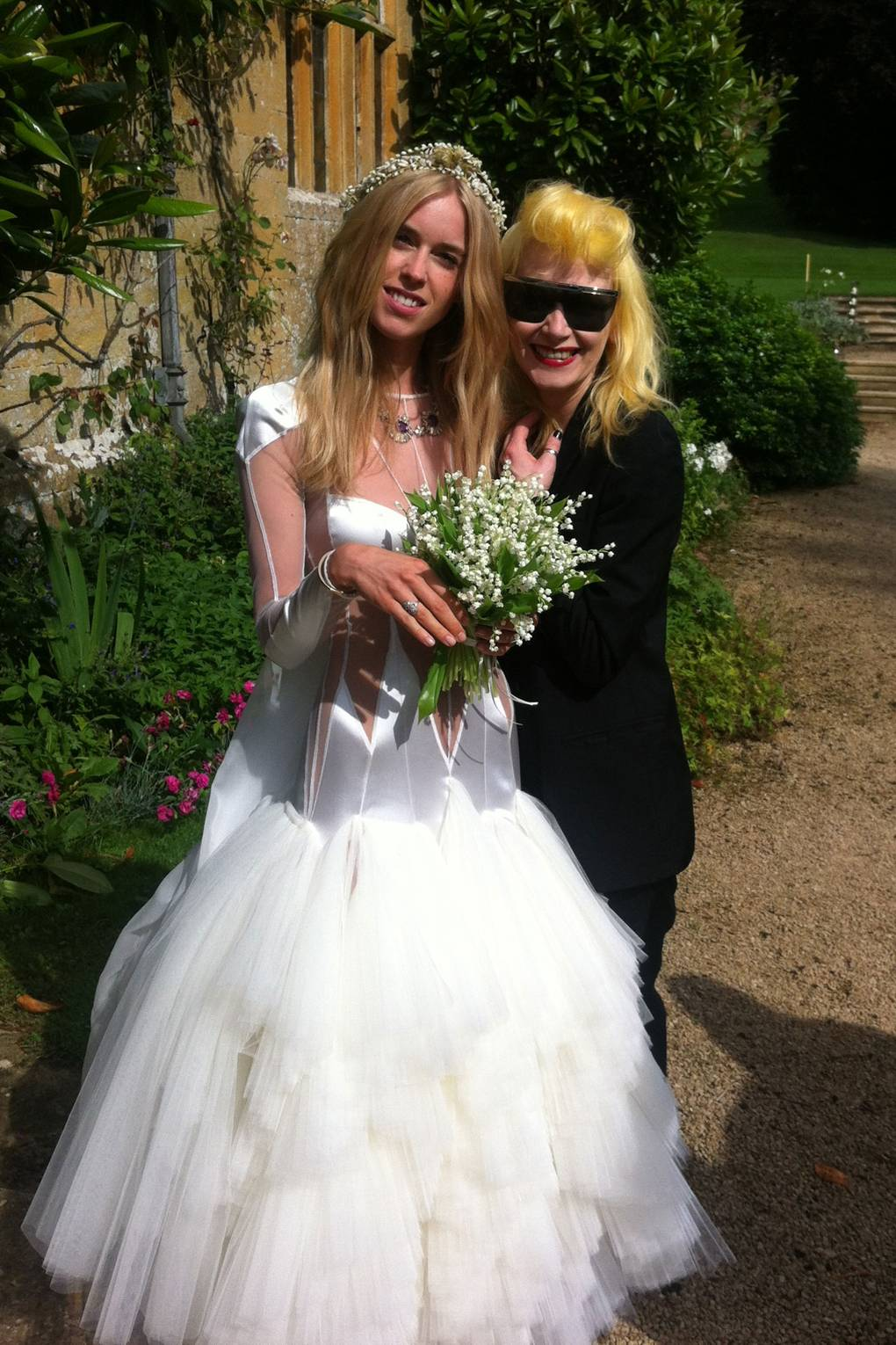 Pam Hogg Creates Mary Charteris Wedding Dress | British Vogue