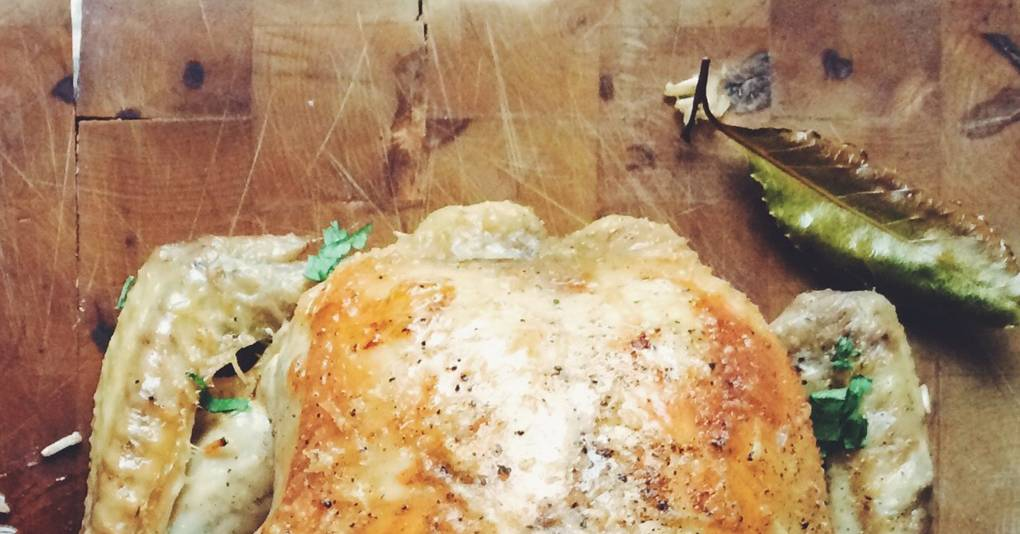 Roast Chicken With Parmesan Rice