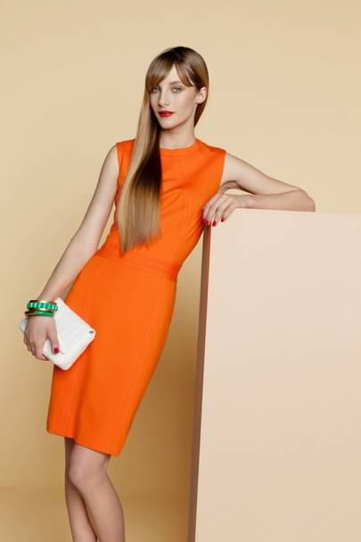 Panelled jersey dress, £203