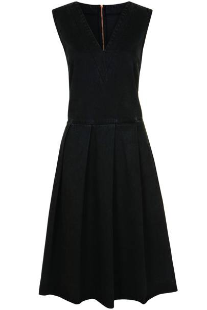 Black pleated dress, £70