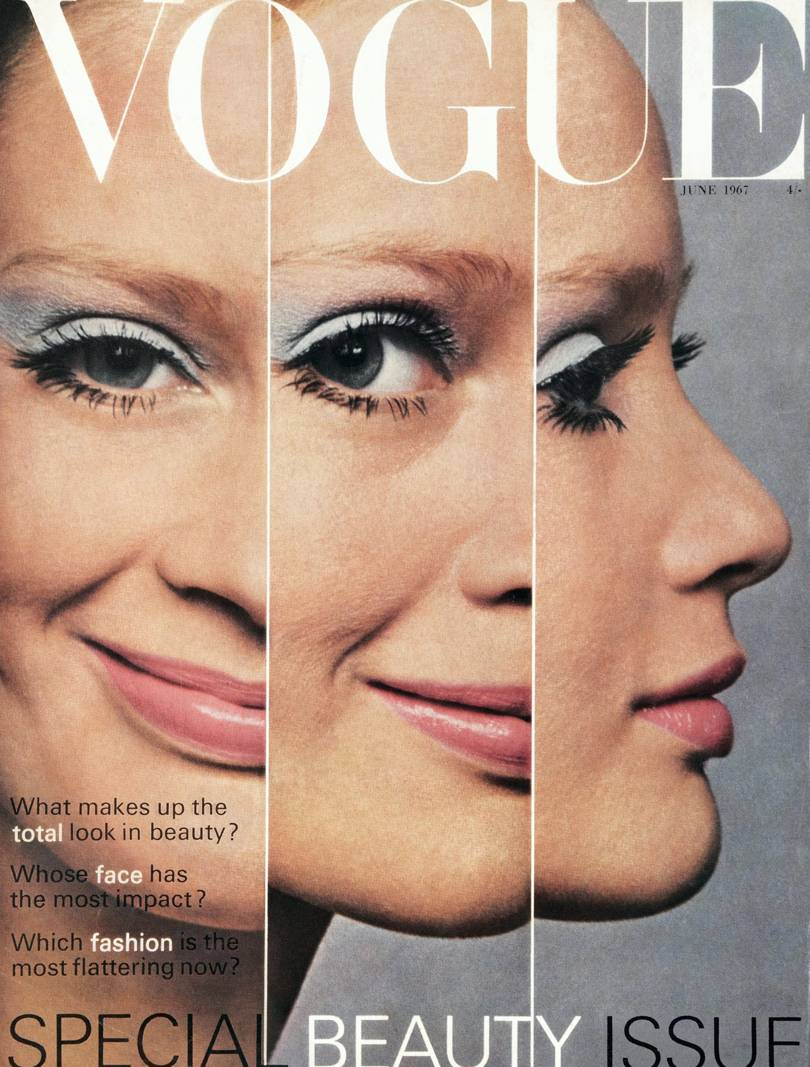 Vogue special beauty issue with cover model Celia Hammond, June 1967