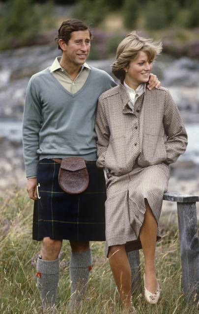 The brown-and-white tweed suit (Balmoral, August 1981)