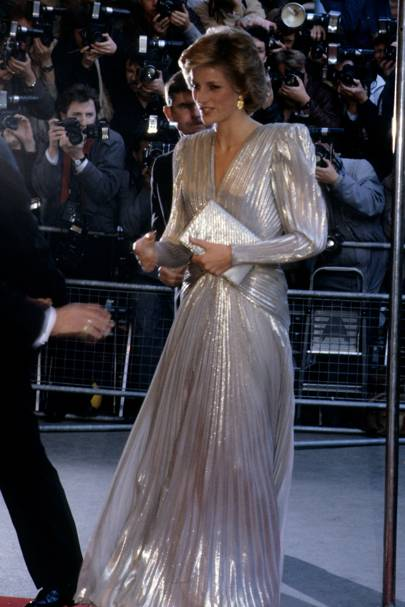 6ea7b3c696 MARCH 1985 – Diana shimmered in a Bruce Oldfield gown for a fashion show  gala in aid of the Dr Barnado s charity