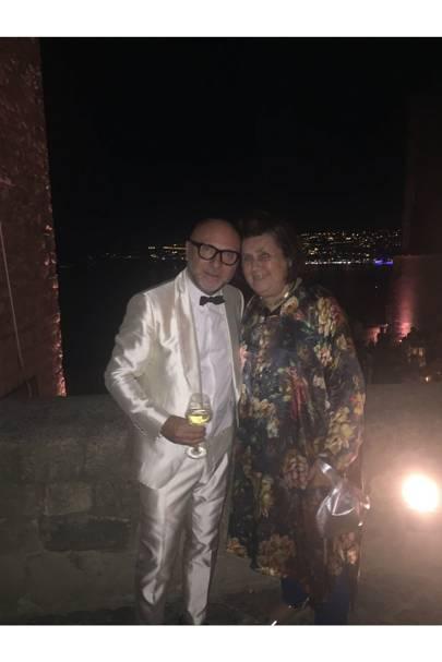 Suzy with Domenico Dolce