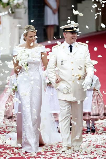 Vintage Tea Length Wedding Dresses with White Back Ground