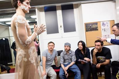 Tisci during one of the costume fittings