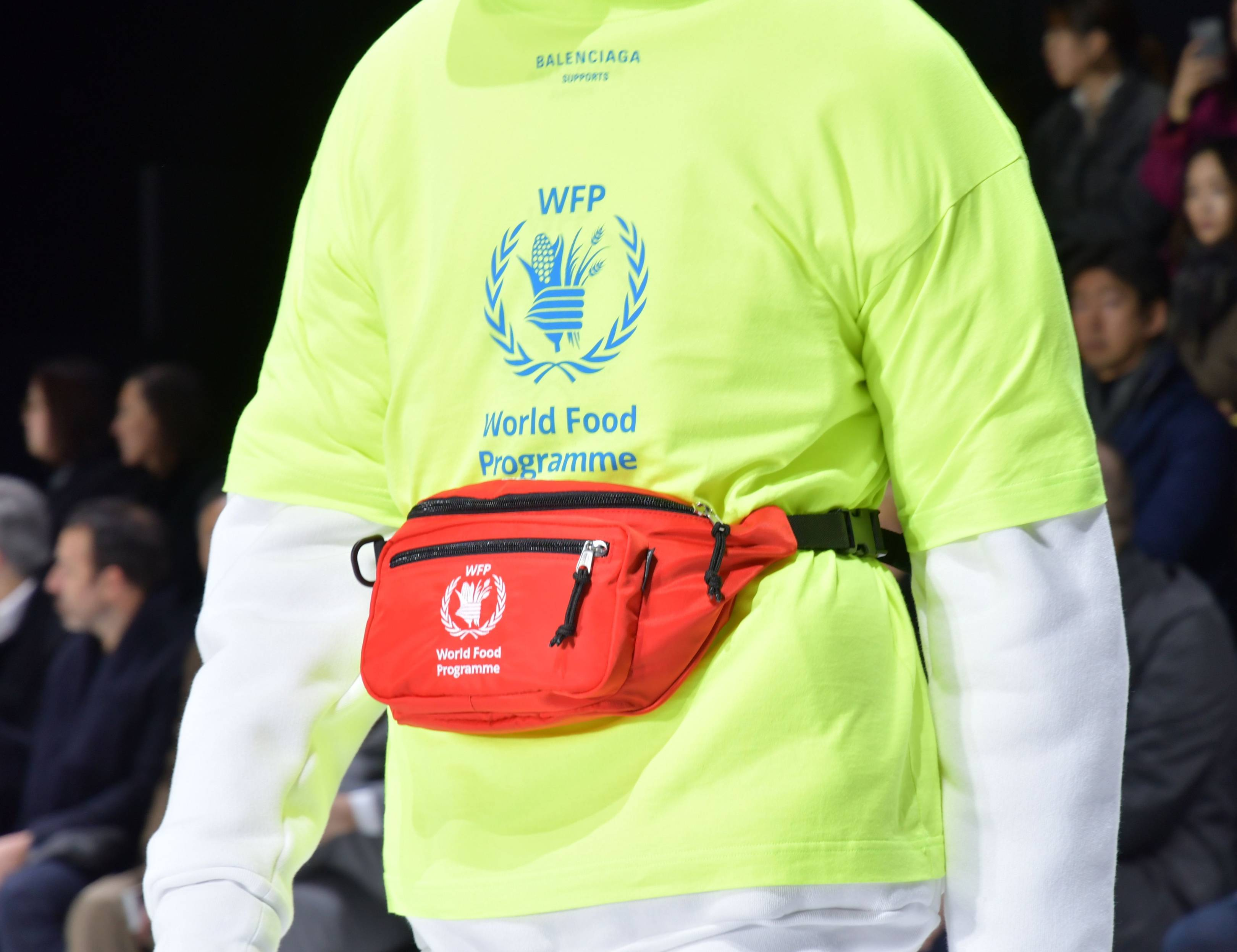 07a330ab2b95 Balenciaga Unveils Merchandise Supporting The WFP At PFW Show ...