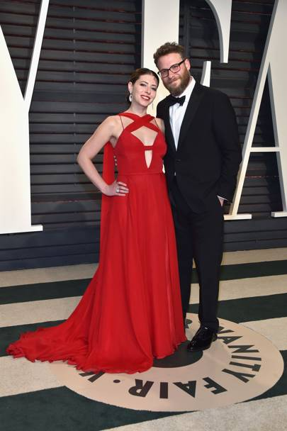 Lauren Miller in Christian Siriano