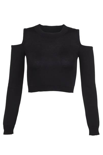 Black cropped jumper, £35