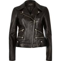Black Leather Biker Jacket, £100: