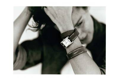 Martin Margiela for Hermès A W 1998  the advertising campaign, over-painted  by Martin Margiela, showing the Cape Cod watch designed by Henri d Origny  with ... a47ef7ef4e8