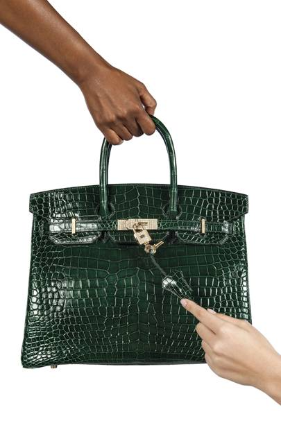 38d31472dbd1 The colour and material used for hardware has a major impact on a bag s  price. Up for auction is an Exceptional dark green crocodile Birkin that  has solid ...