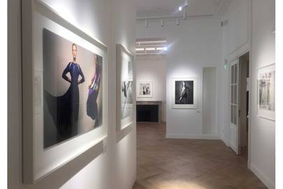 A display of photography by Guy Bourdin at the inaugural exhibition of the  new Chloé cultural space f6ae98232d6