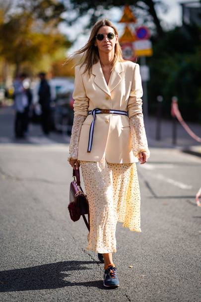Roll up the sleeves, belt the waist and add a smattering of sequins