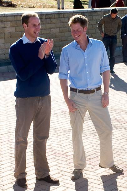 11 - Prince William and Harry