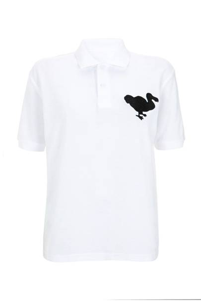White polo shirt, £35
