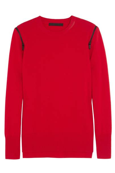 Zip wool and cashmere blend sweater, £200