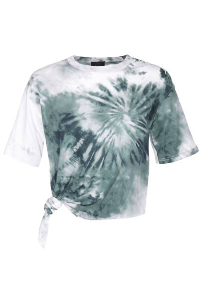 Tie-dye cotton knot T-shirt, £20