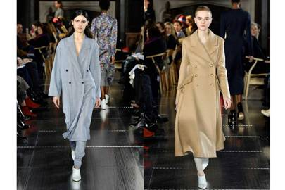 Double-breasted wool coats from Gabriela Hearst's Autumn/Winter 2017 collection