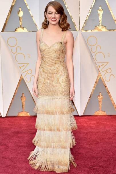 Emma Stone in Givenchy Haute Couture by Riccardo Tisci