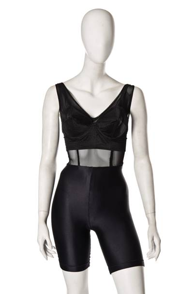 Madonna's black bustier and bodysuit