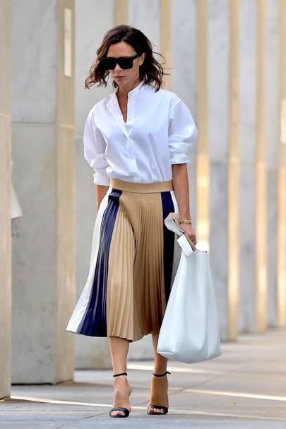 6f3ba92d3b Pleated Skirts: Celebrity Fashion Trend | British Vogue