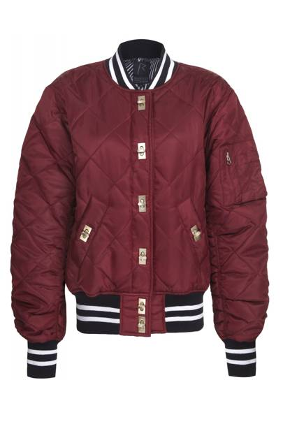 Quilted nylon bomber, £90