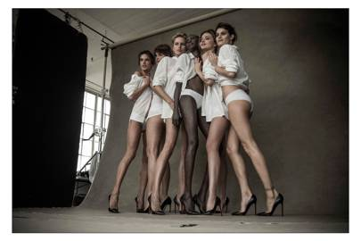 Behind the scenes at the Pirelli calendar 50th anniversary shoot