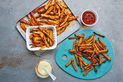Swap regular fries for courgette fries, or parsnip or carrot