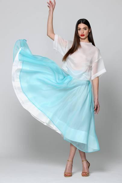 Silk-Organza Maxi skirt by Gulnoza Dilnoza Milano