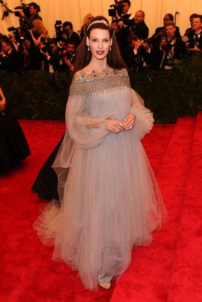 Linda Evangelista at the 2013 Met Gala